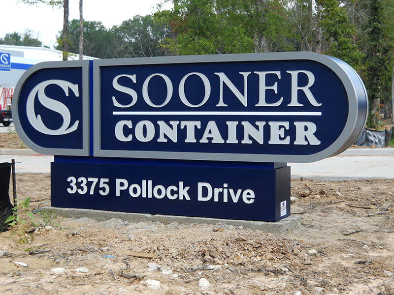 Sooner Container - Baker's Signs & Manufacturing